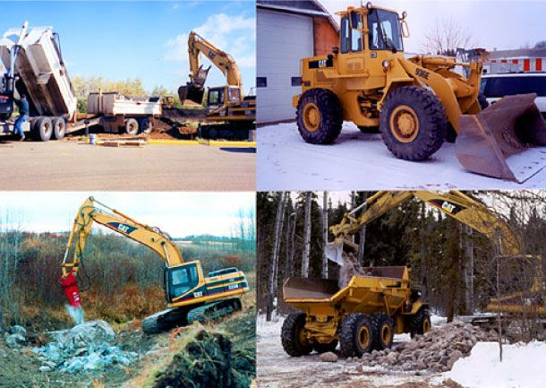 Construction and excavating equipment